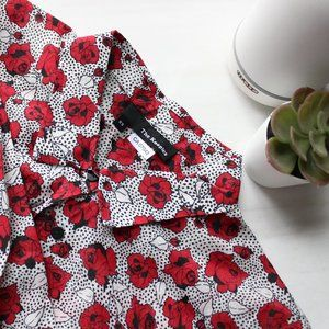 THE KOOPLES - Rose Print Shirt